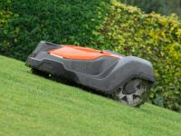 Husqvarna robotic mower on slope