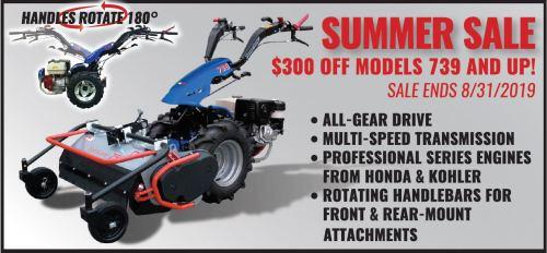 $300 Off BCS Professional Tractors models 739 & Up